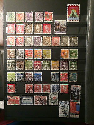 Selection of early denmark stamps