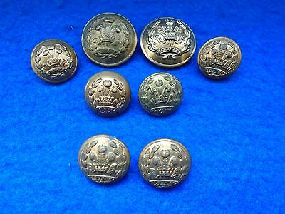 Job Lot Of Wwi/ii Middlesex Regiment Other Ranks Mixed Size Brass Tunic Buttons