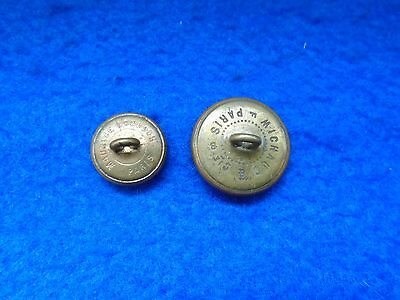 2 X Wwi French Navy Officers And Other Ranks Rimmed Edge Tunic Buttons