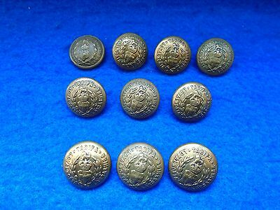 """Job Lot Wwi/ii The Loyal Regiment (North Lancashire) Officers 3/4"""" Buttons"""
