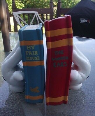 Rare Mickey Mouse Glove Hand Bookends