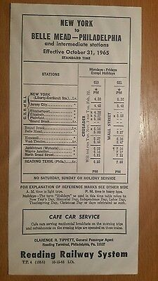 Lot of 4 - Reading Railway System & Central R.R. of New Jersey Timetable Cards