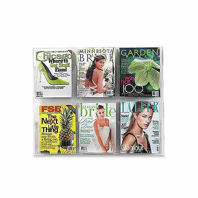 Safco Products 5667CL Clear2c Literature Display 6 Magazine Clear