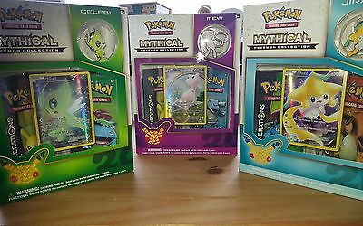 POKEMON Generations Mythical Mew, Celebi & Jirachi box collection - NEW