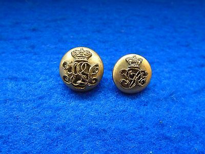 2 Rare Victorian 84Th York & Lancaster Regiment Officers 2 Part Mufti Buttons