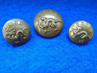 3 X Border Regiment/kings Own Royal Border Regiment Officers/or Tunic Buttons