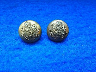 2 X Wwi/ii Scots Guards Officers 14Mm Cap Buttons, Free Uk Post