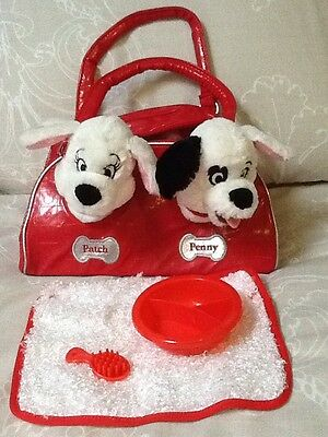 Disney 101 Dalmation Dog Patch Penny Soft Teddy Puppy In Bag Disney Logo