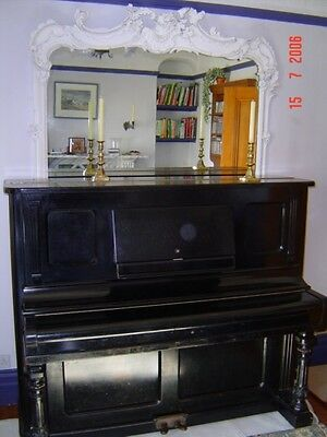 Vintage Converted Decker Brothers Upright Pianola Dated 1890 - Now Reduced