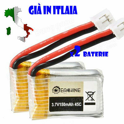 2 x Eachine E010 3.7V 150MAH 45C Upgrade Battery