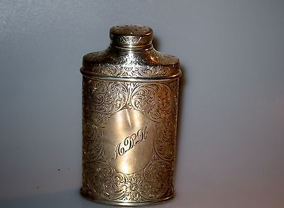 1904 Tiffany & Co Makers Sterling Powder Talcum Shaker - Floral Repousse Silver