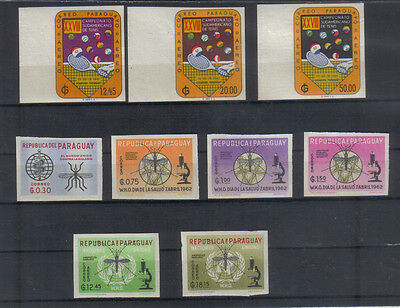 Paraguay 1961-62 Small imperf unmounted mint collection