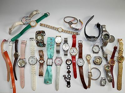Lot of Watches Guess Acqua Gruen Quemex Stellaris As-Is Repair Crafts Resell