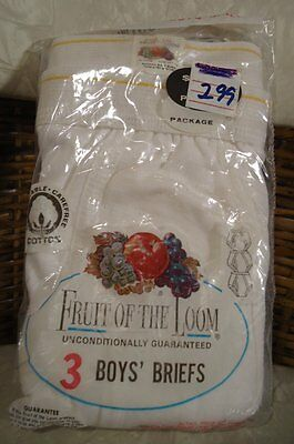 HTF NOS Vtg 60s Single Yellow Line 100% Cotton Fruit of Loom Briefs 10 US Made
