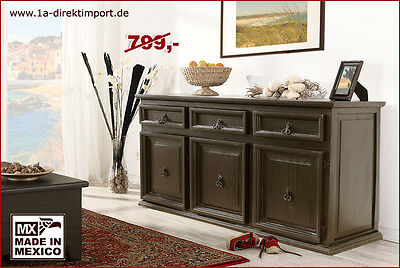 Mexico kolonial tv tisch lowboard kommode sideboard pinie for Tv schrank kolonial