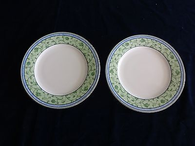 "Set Of 2 Wedgwood Home Watercolour Pattern 10.5"" Dinner Plates"