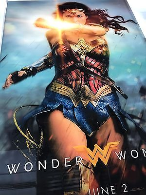 Wonder Woman movie poster, 27x40 DS printed on glass (plexi) Frame Not Included
