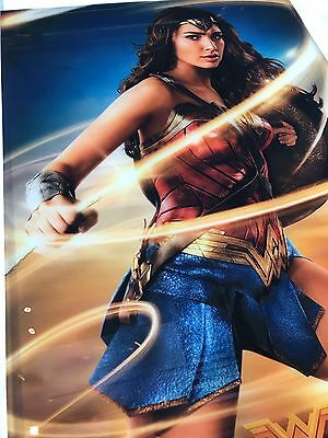 Wonder Woman movie poster, 27x40 DS printed on glass (plexi)