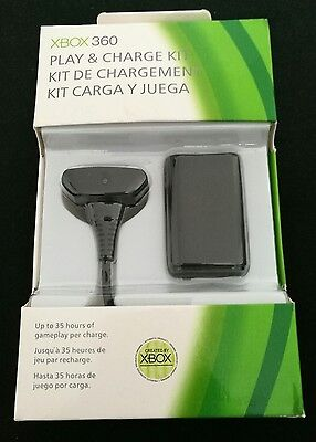 Xbox 360 Play and Charge Kit Rechargeable Battery Pack - Black