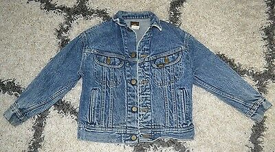 Vintage Lee Acid Wash Jean Jacket Boys / Girls / Kids Size Small  PATD 153438