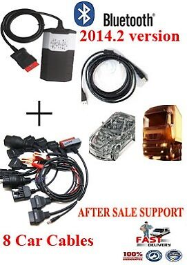 Diagnostic Tool For Delphi Scanner Cars Trucks DS150E With 8 Car cables