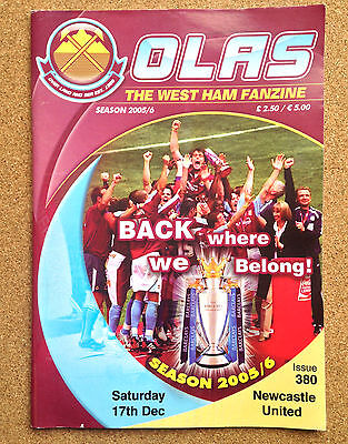 FANZINE West Ham United Football Supporters OVER LAND AND SEA OLAS Issue 380