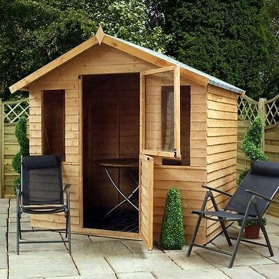 Wooden Summer House Summerhouse Garden Shed Chalet Storage Log Cabin Timber New