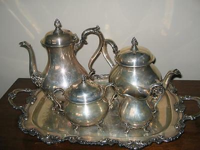 Vintage Silver Coffee/tea Set With Tray