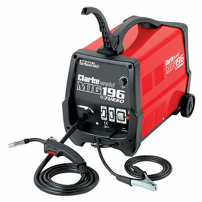 CLARK MIG 196 NO GAS / GAS MIG Welder. CRAZY BARGAIN PRICE AND FREE SHIPPING.
