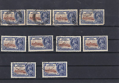 Straits Settlements 1935 12c Used Stamps CAT£80+  Ref: R6553