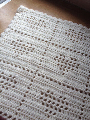 Handmade Crochet Baby Blanket Afghan Shawl ~ Newborn Gift ~ Photo Prop