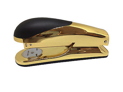 2 x Niceday Staplers Gold Deluxe Acrylic Sturdy Office School x 15 Sheets Size