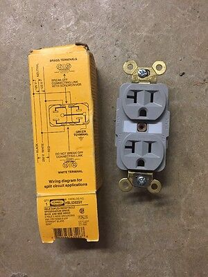 Remarkable 20A Duplex Receptacle 125Vac 5 20R Bn Hubbell Wiring Device Kellems Wiring Digital Resources Funapmognl