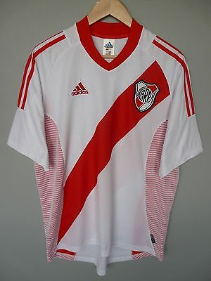 Vtg River Plate Adidas 2002 Home Football Shirt Trikot Jersey Sz Medium (194)