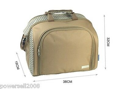 British outdoor portable Picnic Insulated Cooler Bag for 4 Person with tableware