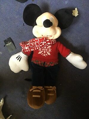 Mickey Mouse Soft Toy Christmas Edition 2015 (Disney Store Official)