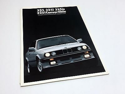1987 BMW 325 325i 325is 325i Color & Upholstery Selections E30 Brochure
