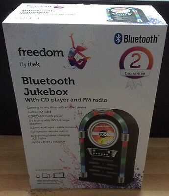 iTek Bluetooth Multi Functional LED Jukebox Speakers Radio, CD player, I60018CD