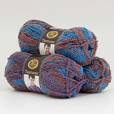 Lion Brand Yarn 931-205 Textures Yarn, Mountain Dawn (Pack of 3 skeins)