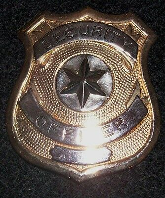 Gold Security Officers Badge