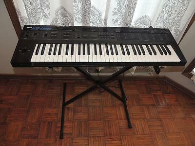 Korg DW-8000 Synthesizer w/ Hard Shell Travel Case & Stand Synth Keyboard