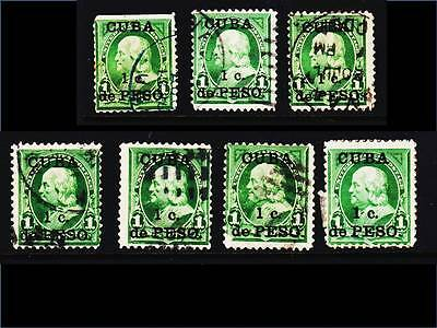 Spanish Caribbean 1899 US Postage Surcharged. Country Scenes. Used, MM