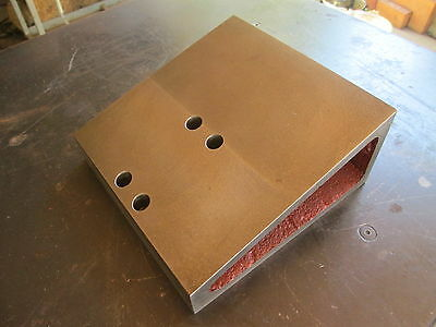"ANGLE PLATE FIXTURE 8"" x 8""  FOR MILLING MACHINE ETC. - FREE SHIPPING!"