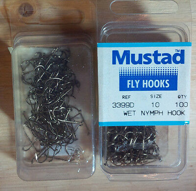 Mustad 3399D, Sproat Hooks, Size 10, Package of 100, Made in Norway