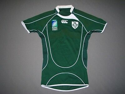 IRELAND RUGBY WORLD CUP 2007'  CCC PLAYER ISSUE RUGBY SHIRT JERSEY Size:S  VGC
