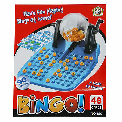 BINGO Lotto Traditional Family And Children Game 90 Ball + 48 Cards Kids Toys