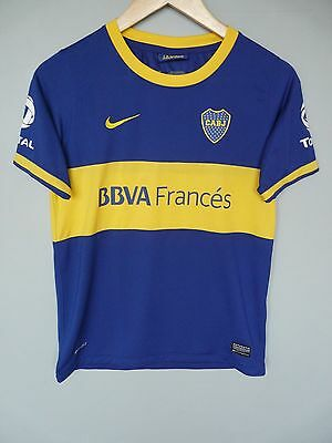 Vtg Boca Juniors Nike 2013 Home Football Shirt Trikot  Sz Large Youth (Y015)