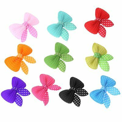 2pcs Bows Clips Hair Grooming Dog Puppy Pet Cat Fashion Present Accesories UK