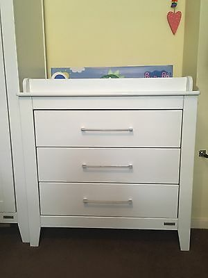 White Mamas and Papas Coastline Dresser Changer With Drawers