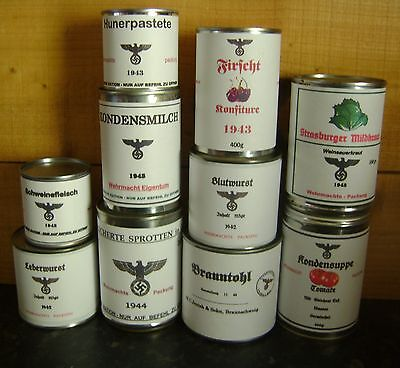 WW2 German can labels, repro